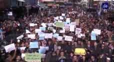 أردنيون غاضبون للرزاز: تسقط اتفاقية العار مع الاحتلال - فيديو