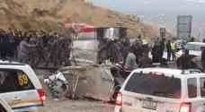 5 إصابات بحادث تدهور في جرش - صور