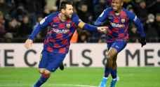 ميسي يهدي مدربه الجديد الفوز في مستهل مشواره مع برشلونة