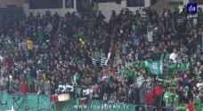 """الجماهير الأردنية خلال مباراة الوحدات والارثوذكسي: """"لن ننسى القدس عربية"""" (فيديو)"""