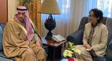 السفير السعودي يقدم نسخة من أوراق اعتماده للخارجية الأردنية