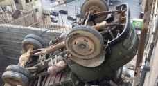 تدهور قلاب في منطقة النصر شرق عمان