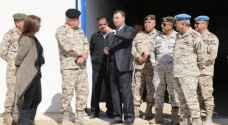 الحنيطي يواصل زياراته لمواقع ووحدات عسكرية في الجنوب