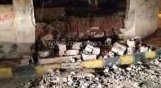 إصابة طفلين نتيجة انهيار سور اسمنتي في محافظة جرش- صور