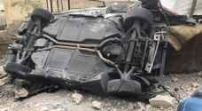 """تدهور مركبة كان يقودها """"عامل محطة غسيل"""" في ماركا.. وهكذا علق صاحبها"""