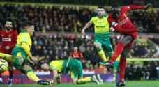 ليفربول يواصل زحفه نحو اللقب بفوز صعب على نوريتش سيتي