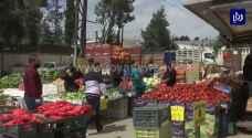 هدوء في أسواق الخضار والفواكه وإجراءات حكومية تحد من رفع الأسعار - فيديو