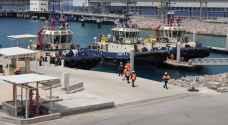 ميناء العقبة يدخل 110 بواخر محملة بالبضائع والحاويات إلى الميناء منذ بدء الأزمة