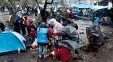 أضرار وتشريد باضطرابات بمخيم للمهاجرين في اليونان