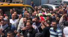 تشييع جثمان الشهيد الفلسطيني الأسير نور البرغوثي