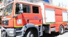 إصابة خمسه من مرتبات الدفاع المدني  أثناء عملية اطفاء حريق اعشاب
