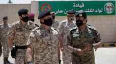 الملك يزور قيادة لواء الملك الحسين بن علي
