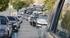 """""""الازدحامات المرورية الخانقة"""" تغطي شوارع العاصمة عمان.. خرائط"""