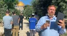 """المتطرف غليك يقتحم الأقصى وشرطة الاحتلال تجري حملة اعتقالات بداخله """"صور"""""""