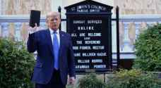 ترمب يتجه سيراً من البيت الأبيض إلى كنيسة مجاورة طالتها أعمال تخريب - فيديو