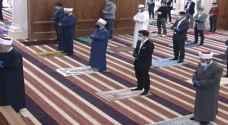 ولي العهد يؤدي صلاة الجمعة في مسجد الملك الحسين