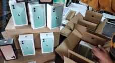 الجمارك الأردنية تحبط تهريب 500 هاتف ذكي