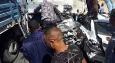 بالفيديو .. ارتفاع عدد وفيات حادث السير المروع الذي وقع على الطريق الصحراوي في الاردن