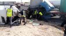5 اصابات بحادث تصادم على الطريق الصحراوي