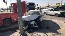 3 إصابات في حادث تصادم في الزرقاء.. صور