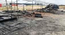 العثور على 4 جثث متفحمة لأشخاص مجهولي الهوية داخل خيمة على طريق المطار