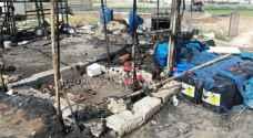 بيان أمني حول وفاة أربعة أطفال بحريق خيم على طريق المطار