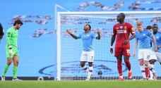 """مانشستر سيتي يقسو على ليفربول برباعية ويعكر عليه الفرحة بلقب """"البريميرليغ"""""""