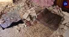 مأسأة لعائلة سورية في الأردن.. وفاة لاجئة وإصابة شقيقتها بإنهيار منزل.. فيديو