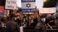 شرطة الاحتلال تفرق مظاهرات في تل آبيب ضد حكومة نتنياهو.. فيديو وصور