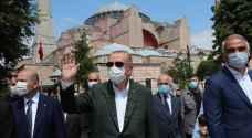 إردوغان يقوم بزيارة رمزية لآيا صوفيا