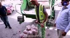 """بعد الدجاج الفاسد ..ضبط عشرات المواد الغذائية """"الفاسدة"""" في أحد مولات عمان- فيديو"""