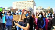 وقفة احتجاجية أمام مجلس النواب للتنديد بالعنف ضد النساء في الأردن.. فيديو