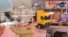 عقاب الهريشات.. شاب أردني يسخّر مخلفات المناجر لصنع تحف فنية - فيديو