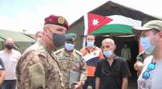 قائد الجيش اللبناني يتفقد المستشفى الميداني الأردني في بيروت - صور