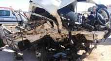 وفاتان وإصابة بحادث سير مروع في البادية الشمالية