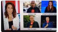 شاهد ..  مراسل قناة عبرية يتعرض للإغماء أثناء بث مباشر من دبي