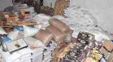 ضبط 46 طن من المواد الغذائية الفاسدة في إحدى المستودعات