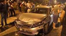 حادث سير مروع في شارع الاستقلال بعمان.. صور