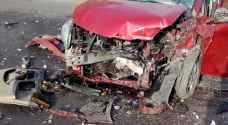 9 إصابات بتصادم 3 مركبات في منطقة رحاب