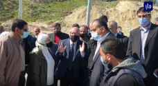 وزير الأشغال رفقة نواب المنطقة يتفقدون طريق دير أبي سعيد - سموع بعد انهياره - فيديو