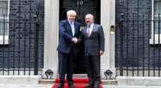 الملك يتلقى اتصالا هاتفيا من رئيس الوزراء البريطاني