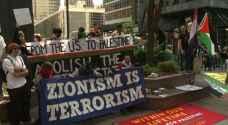 مظاهرات في نيويورك دعماً للقدس وغزة وتنديداً باعتداءات الاحتلال الإسرائيلي - فيديو
