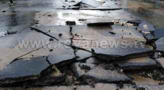 انهيار شارع رئيسي بشكل كامل في وسط البلد عمان