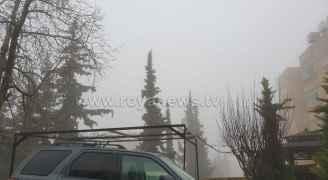 الضباب يغطي العاصمة عمان