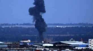 صور من قصف طيران الاحتلال لعدة مواقع في قطاع غزة