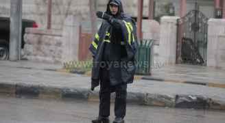 أجواء المنخفض الجوي في العاصمة عمّان صباح الخميس