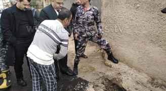 ظهور مغارة في وسط الشارع بمنطقة كفرابيل التابعة لبلدية برقش