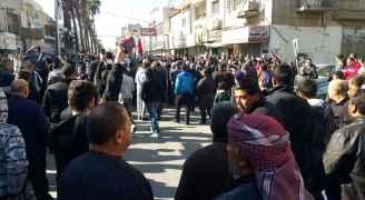 مسيرة في اربد تضامنا مع القدس