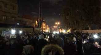 وقفة احتجاجية في مخيم الوحدات ضد قرار ترمب