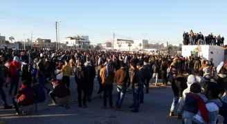 اردنيون أمام السفارة الأمريكية نصرة للقدس